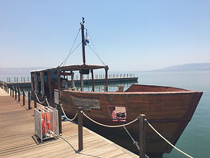Boat in Lake of Galilee