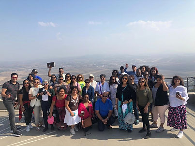 tourists group in Israel