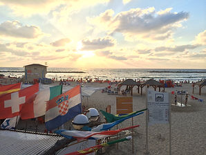 Tel Aviv Beach Sunset