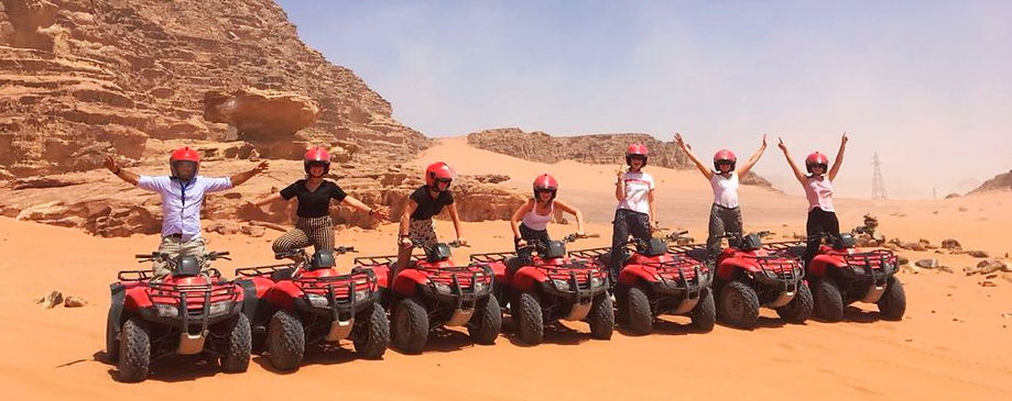 Adventure quad in the desert in wadi rum