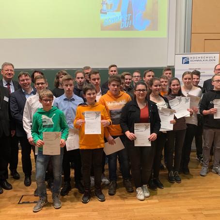 """Regionalwettbewerb """"Jugend forscht"""" 2020"""