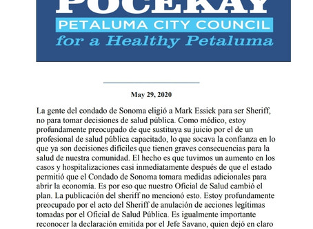 Letter of Response: Sheriff Refuses to Enforce Public Health Orders