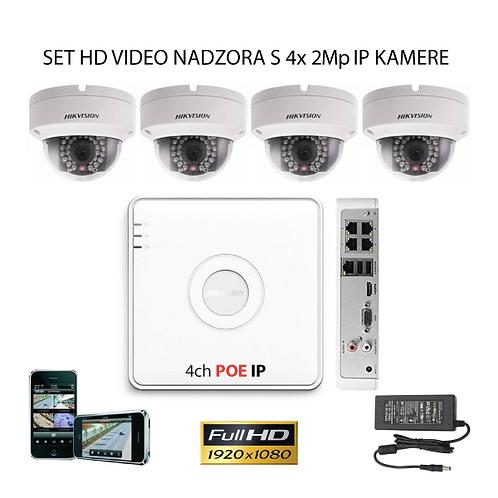 Sustav za IP video nadzor s 4x 2Mp kamere