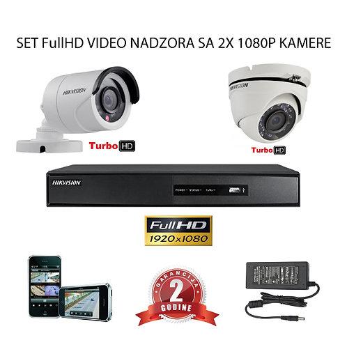 Sustav za video nadzor s 2x FullHD kamere