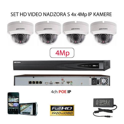Sustav za IP video nadzor s 4x 4Mp kamere