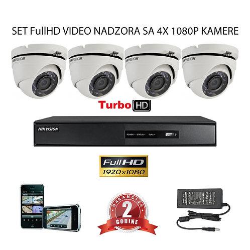 Sustav za video nadzor s 4x FullHD kamere