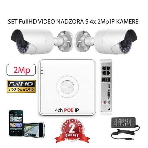 Sustav za IP video nadzor s 4x 2Mp bullet kamere