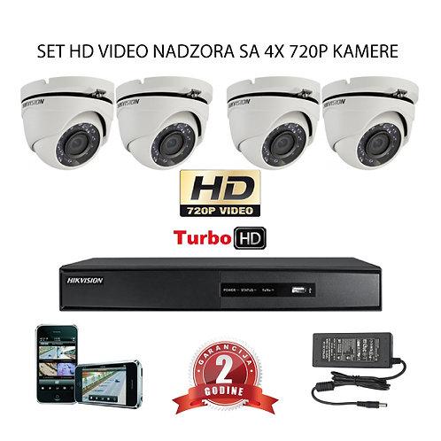 Sustav za video nadzor s 4x HD kamere