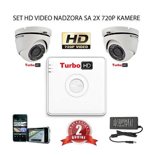 Sustav za video nadzor s 2x HD kamere