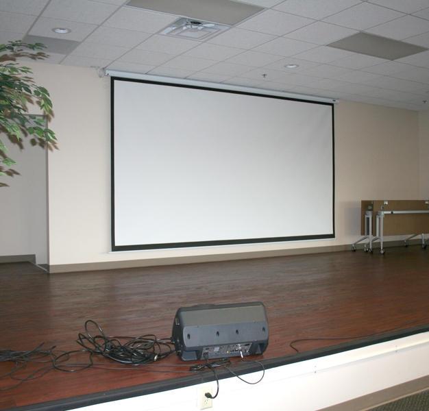 4th Floor Auditorium - stage + screen
