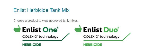 Enlist Tank Mix Options