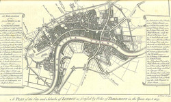 Map of London's defences 1642-3