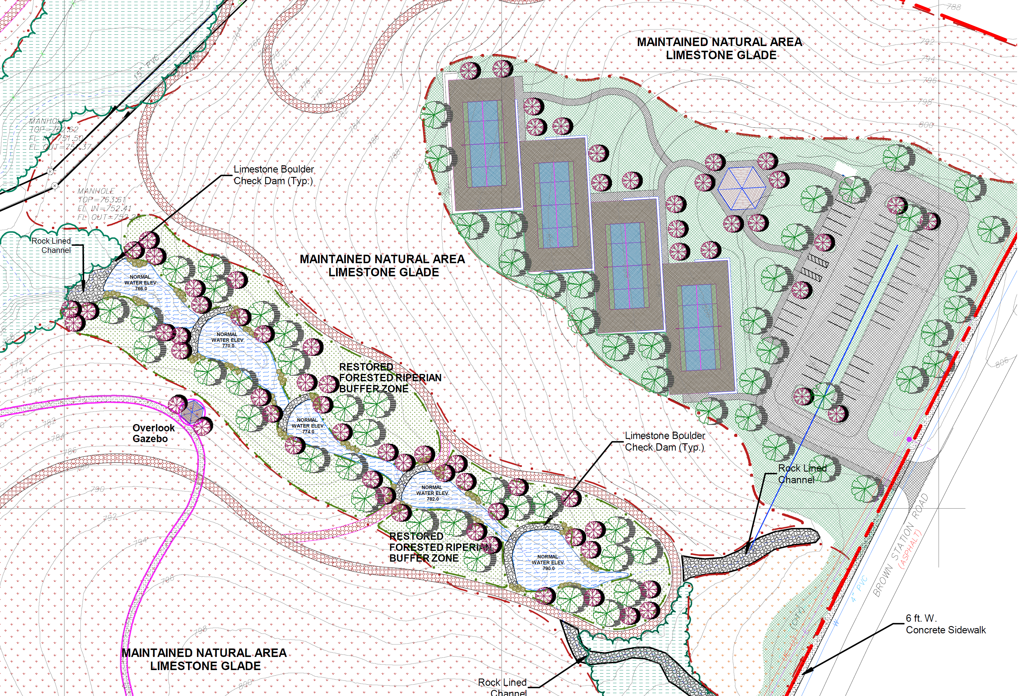 Future Riperian Corridor & Tennis
