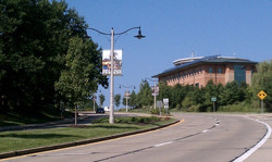 View of parkway with City Hall
