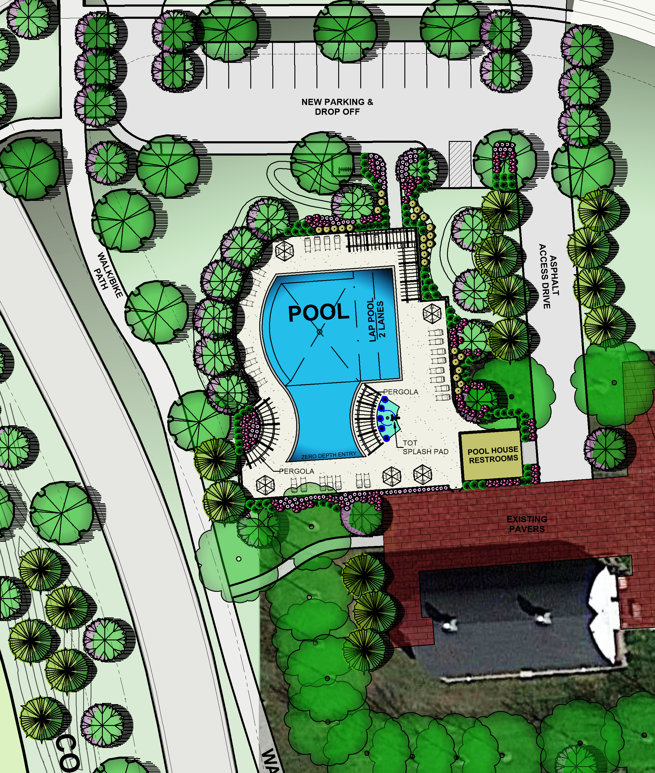 Detail Plan of Community Pool Area
