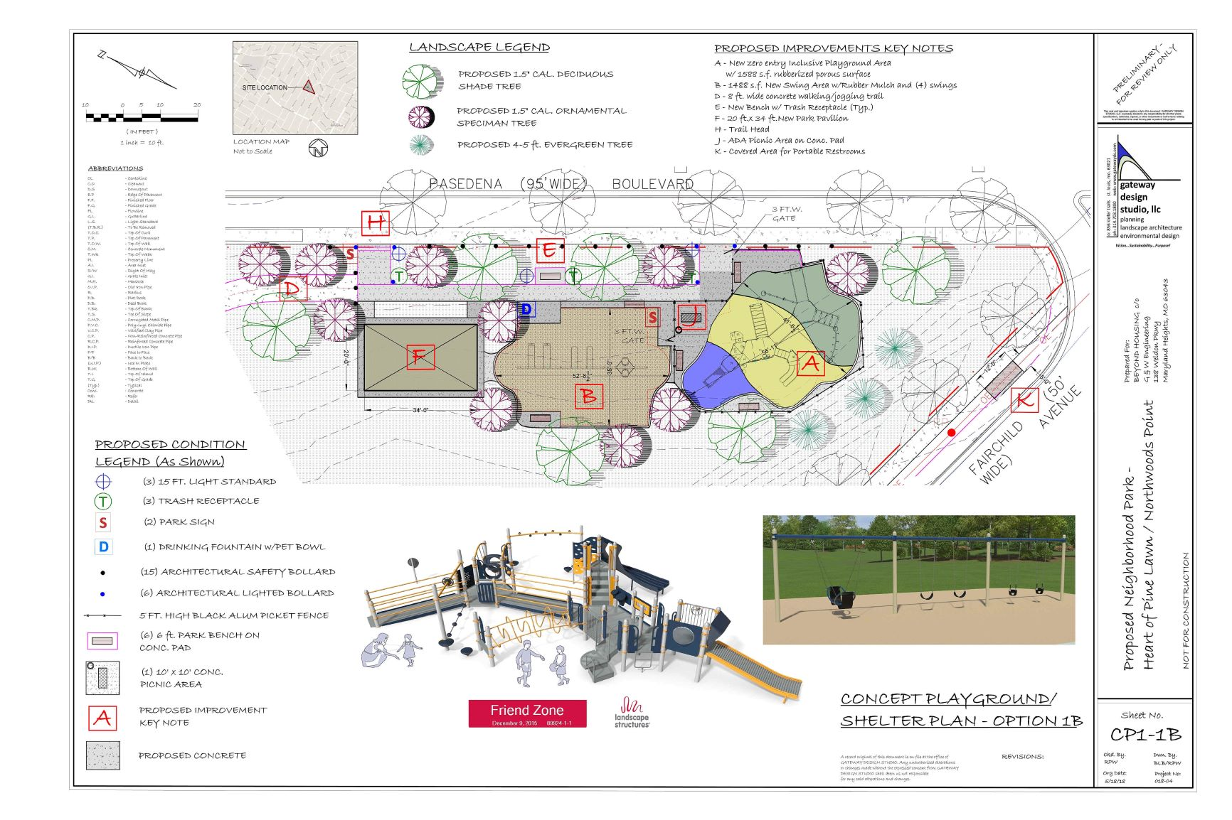 Playground and Shelter Concept Plan
