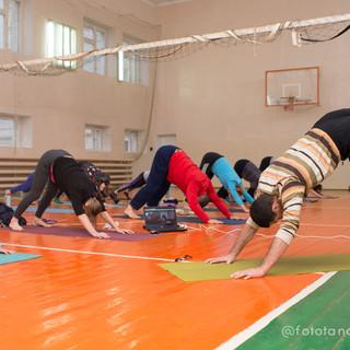 йога в зале