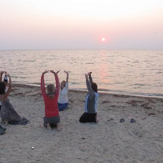 море, воздух и йога