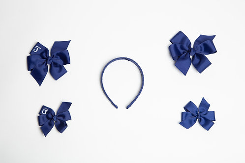 Small Embroidered Flower Bow
