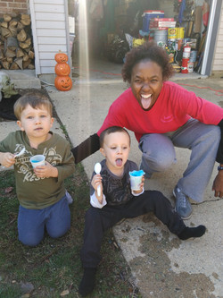 anita with kids