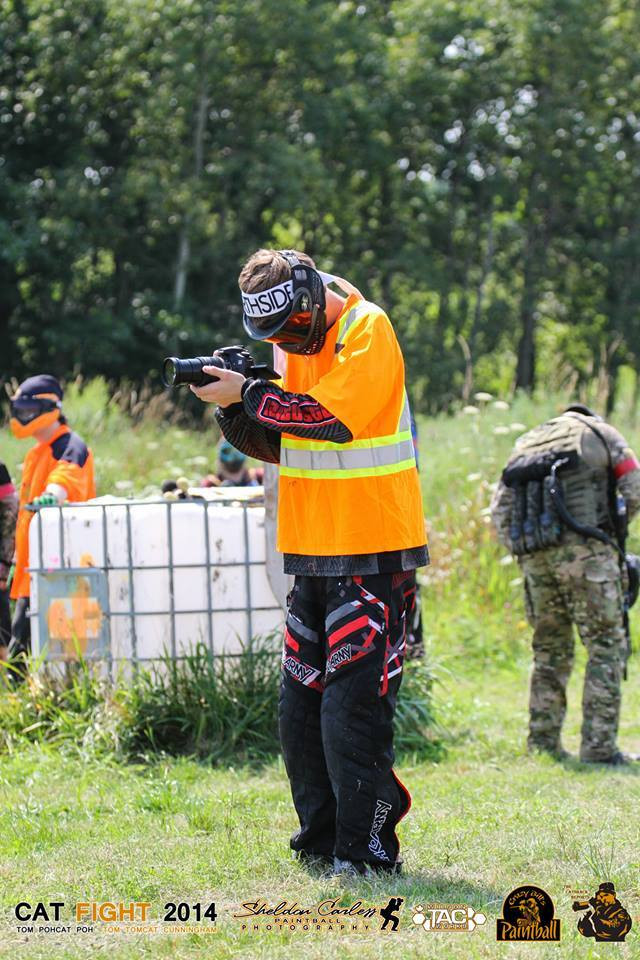 Filming at a Paintball Event in 2014