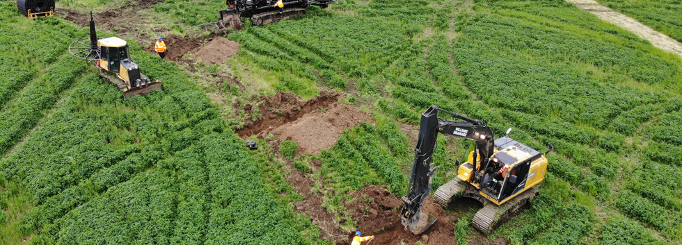 excavating farm drainage