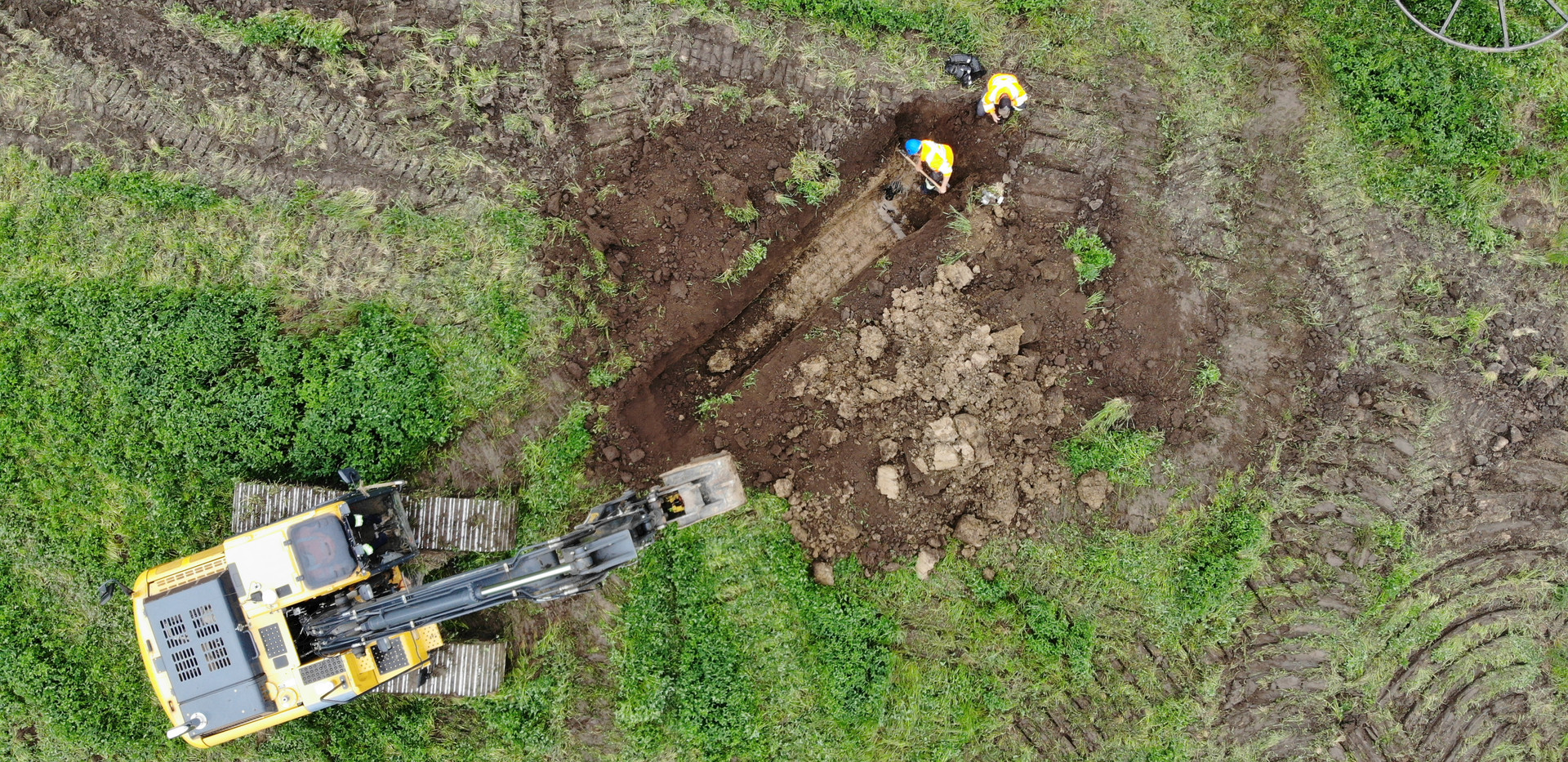 Agricultural farm draiange - excavating