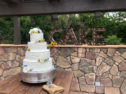 Beautiful Rustic Floral Wedding Cake.
