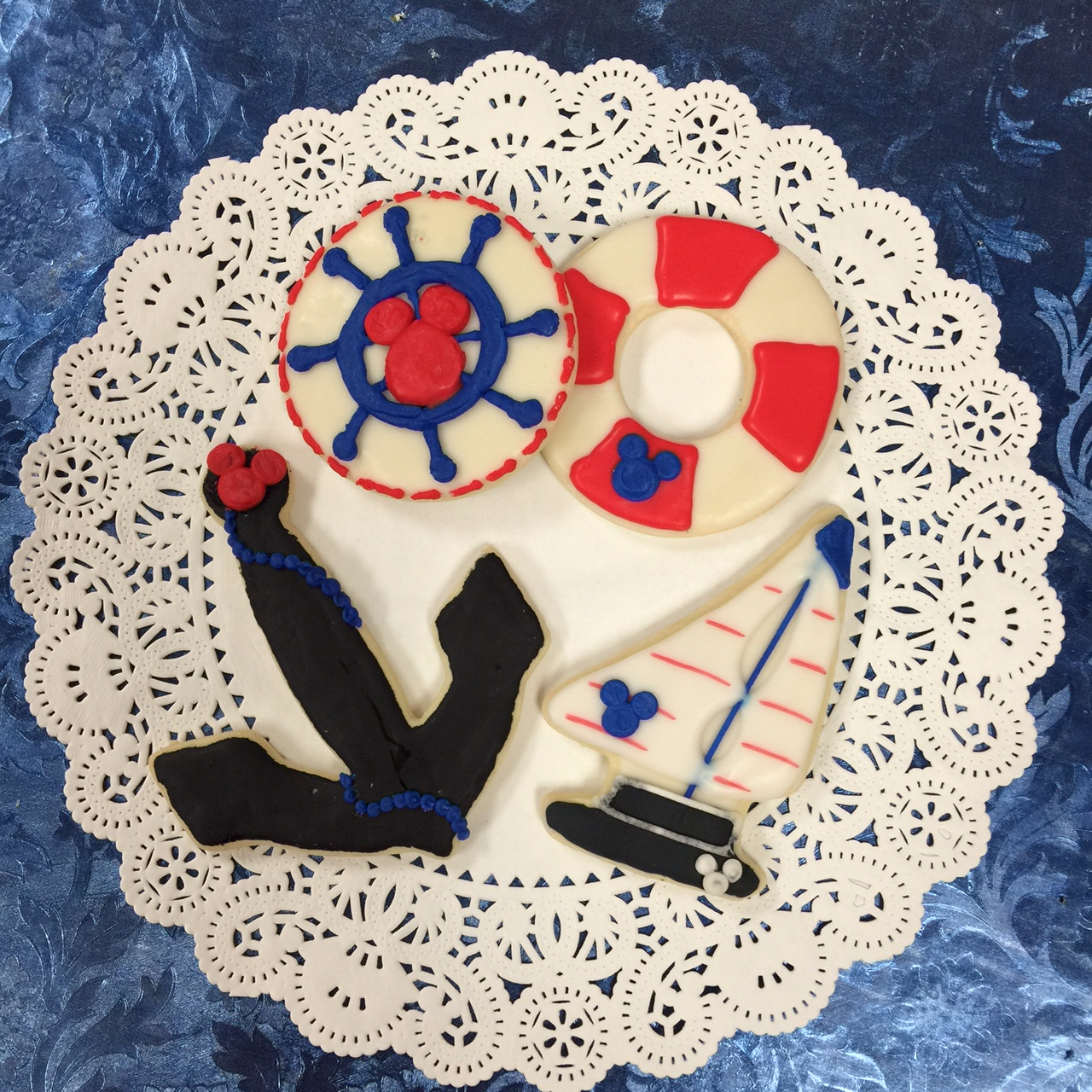 Nautical Mickey Cookies