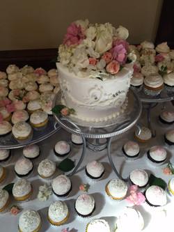Floral Cupcake Wedding