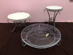 Three Tier Pewter Stand