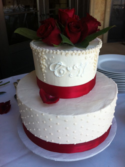 Ivory and Red Roses