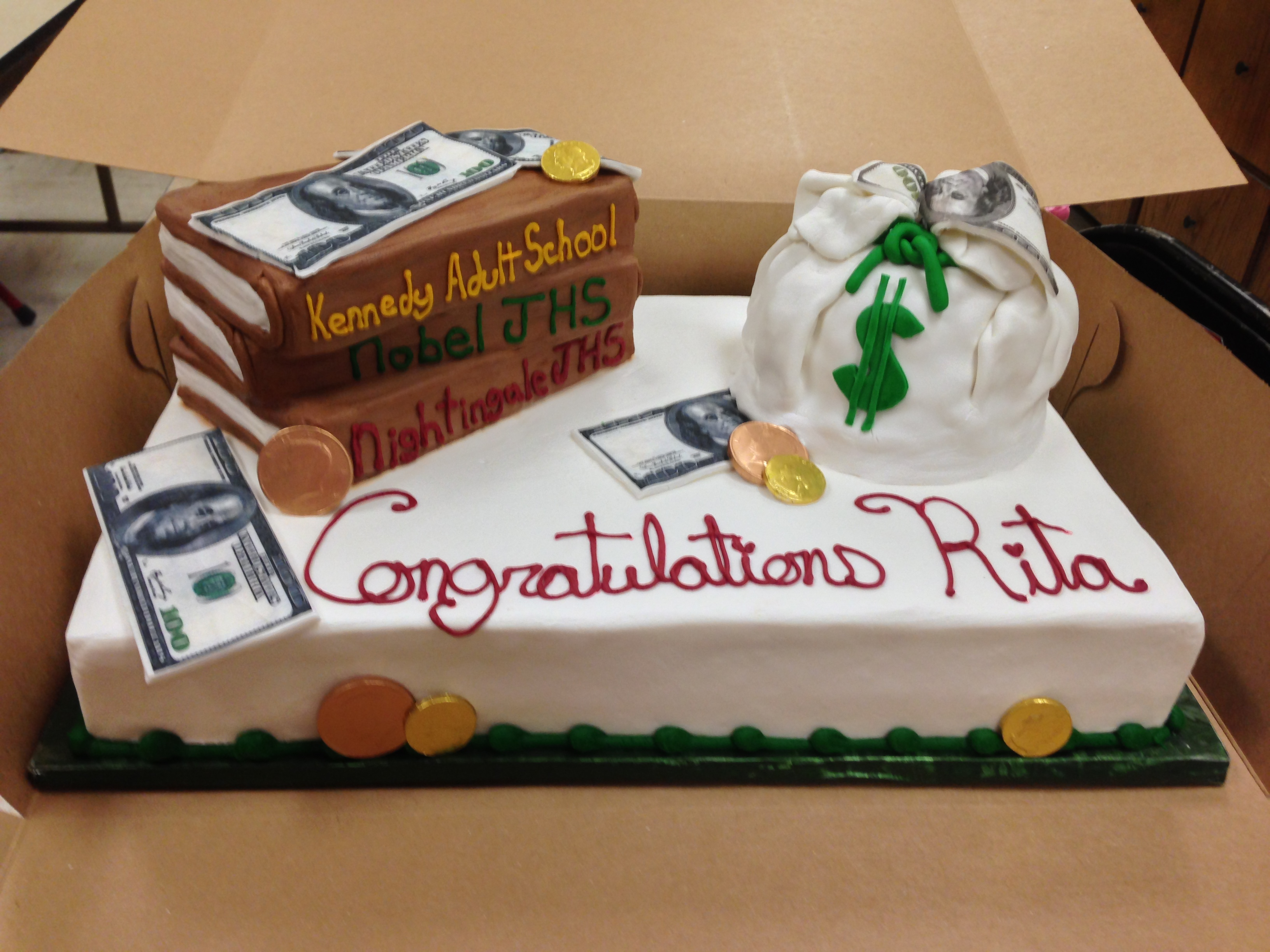 Accountant Graduation Cake