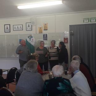 Taranaki Triples winners Maree Gadsby (S), Faye Gesce and Lesley Te Awa