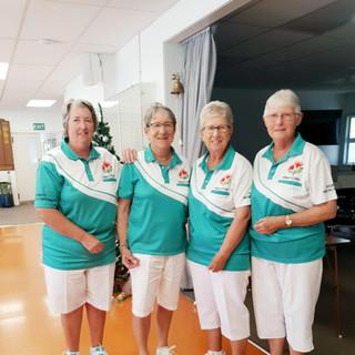 Winners of the Women's 4's. (L-R) Rhonda Adams, Faye Hill, Vicki Kelly & Norma Rothwell