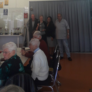 Fitzroy Mixed Four's winners of Trevor Hill, Caroline Wilks, Lesley Te Awa and Ron Gadsby
