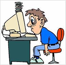 Человек перетрудился за компьютером