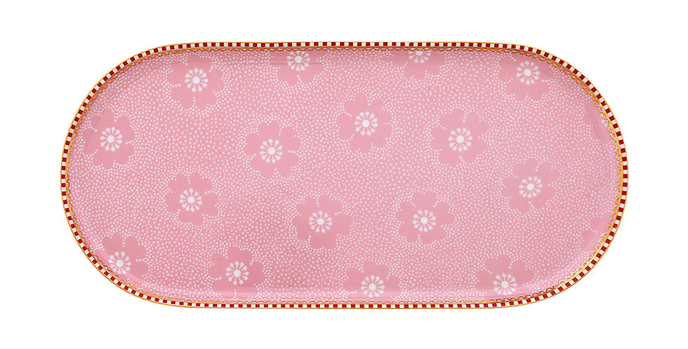 Travessa Pequena Rosa Floral Delicada Porcelana