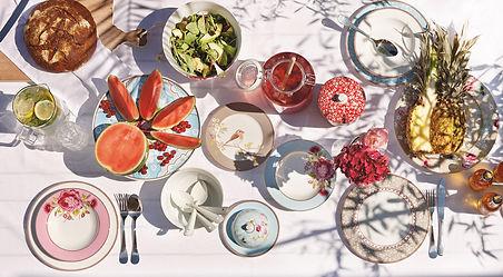 coleção floral flores primavera porcelanas de luxo pip studio aparelho de jantar chá