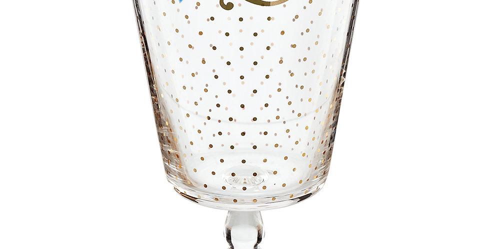 cálice para agua desenhado decoraçao