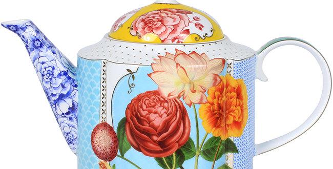 Bule Royal Porcelana Decorada Flores