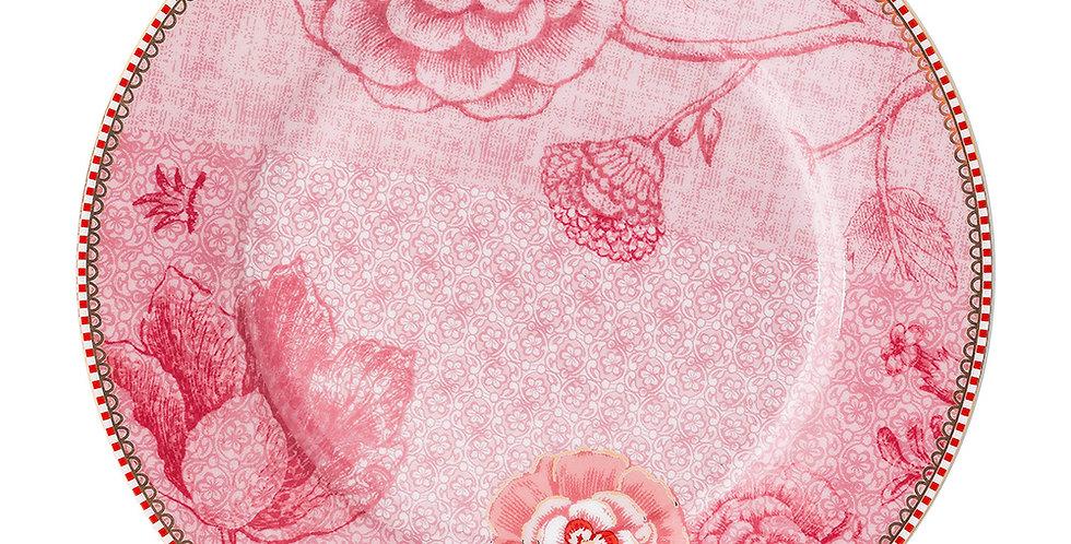 Prato Sobremesa Porcelana Rosa Decorada Spring to Life