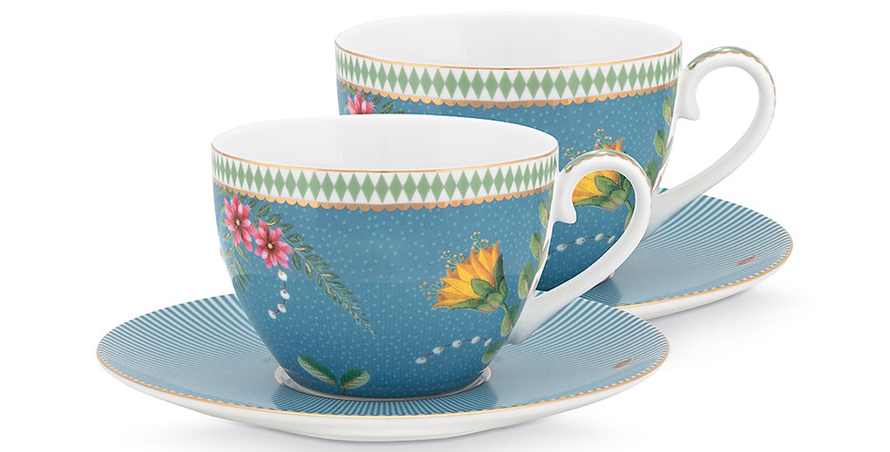 Set/2 Xícara de Chá Azul - La Majorelle