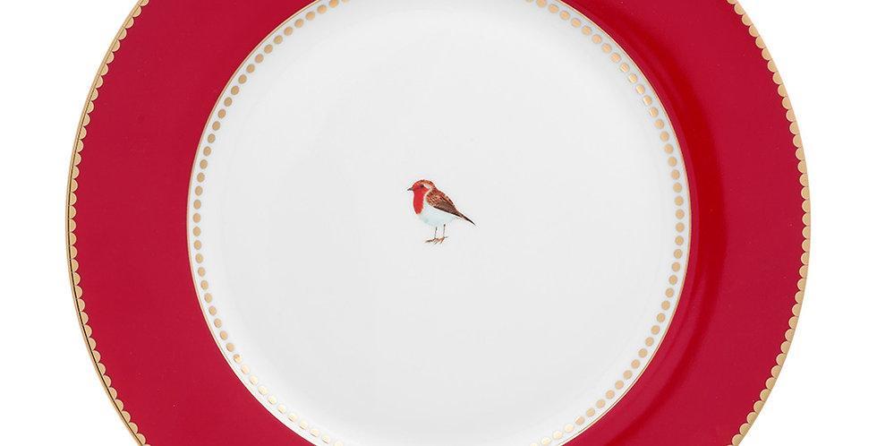 Prato de Jantar Vermelho - Love Birds