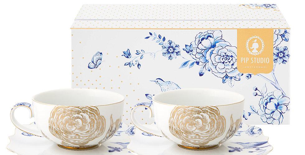 Set duas xícaras de chá porcelana holandesa