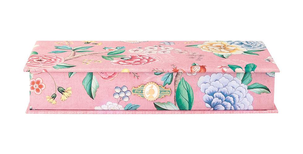 caixa organizadora pip studio rosa decorada flores estampa