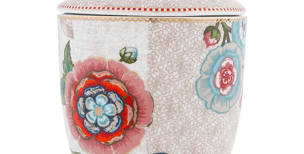 Pote Off White Spring to Life Porcelana Holandesa