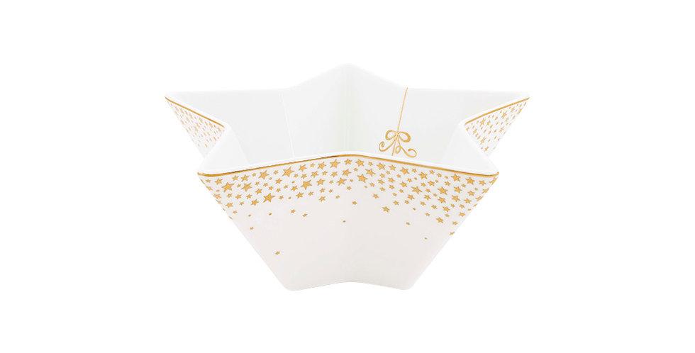 Tigela Formato Estrela Coleção Natalina Porcelana Decorada