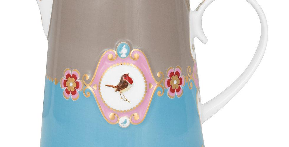 Jarra Medallion Azul/Cáqui  - Love Birds