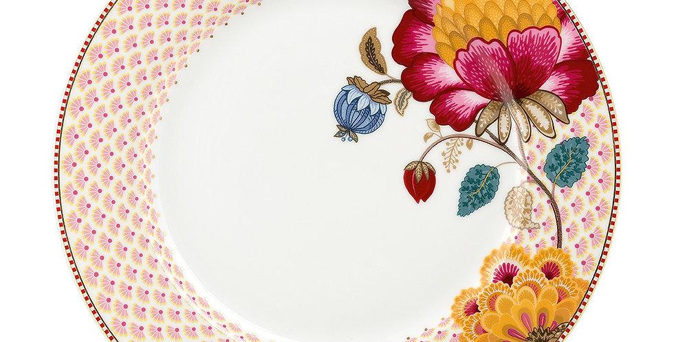 Prato de Jantar Branco Fantasy - Floral Fantasy